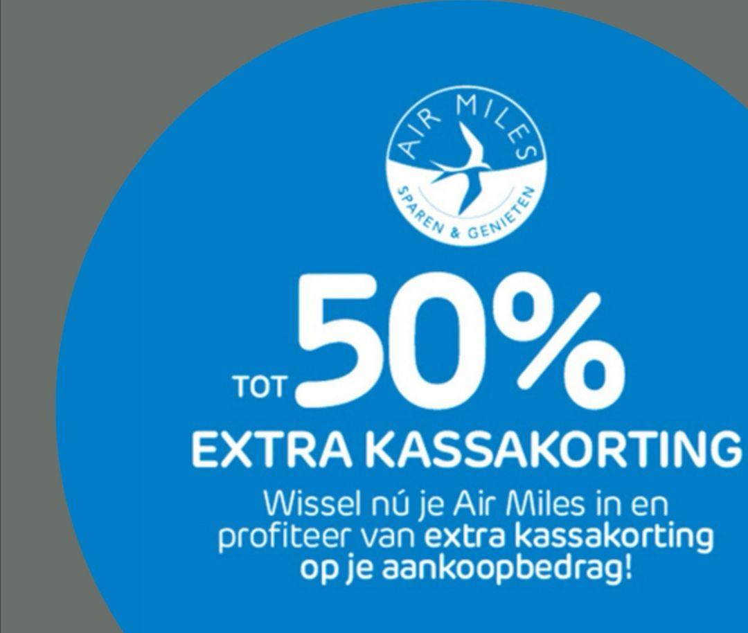Tot 50%, van de aankoopprijs, betalen met Airmiles bij Praxis