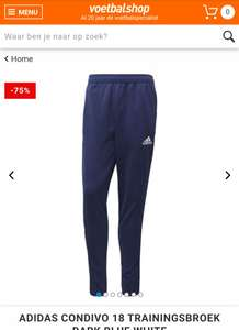[XS & XXXL] Adidas Condivo 18 trainingsbroek dark blue white -75%