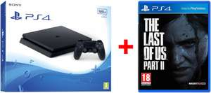 PS4 Slim console 500GB + Dualshock 4 Controller + The Last of Us Part 2