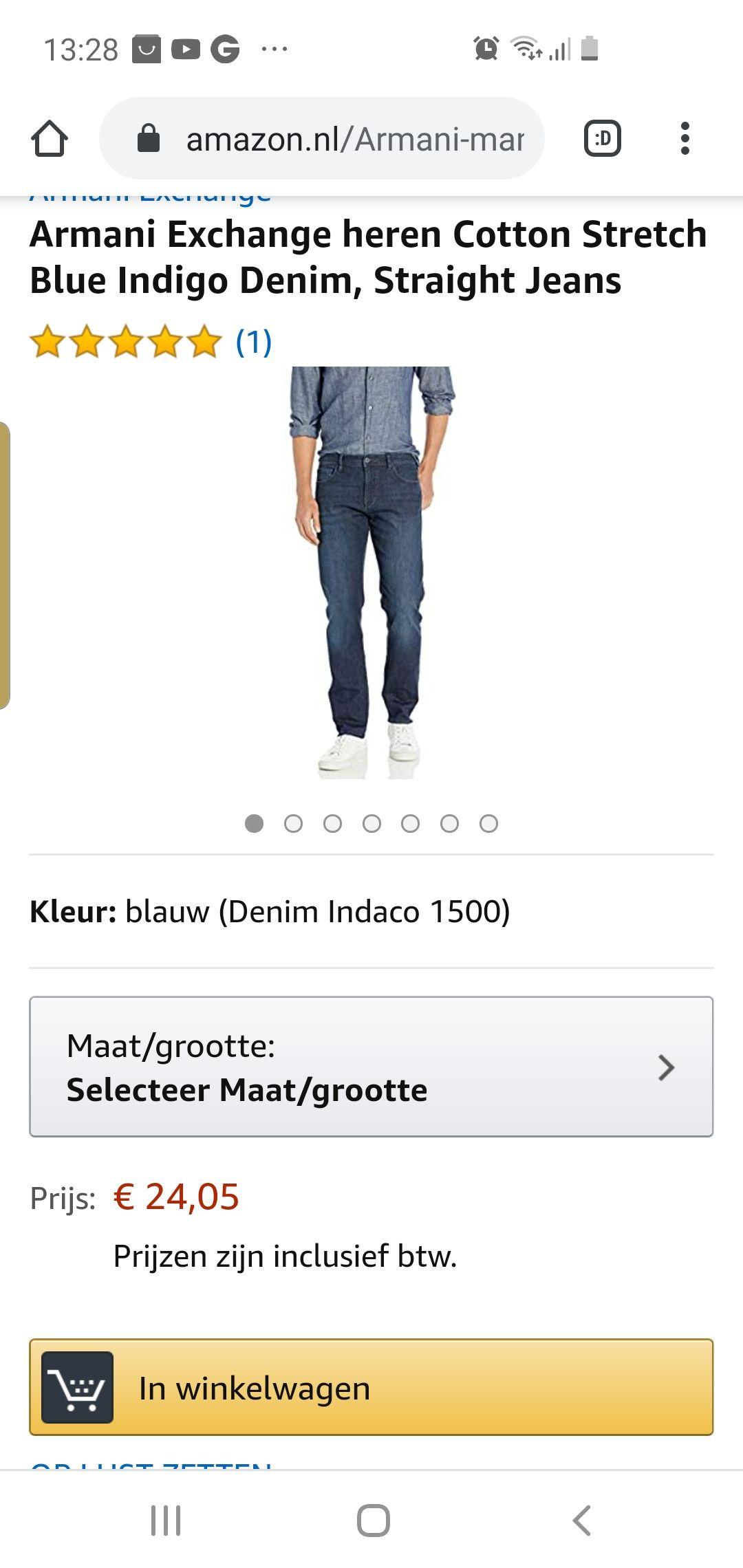 Armani exchange jeans inclusief verzending amazon.nl