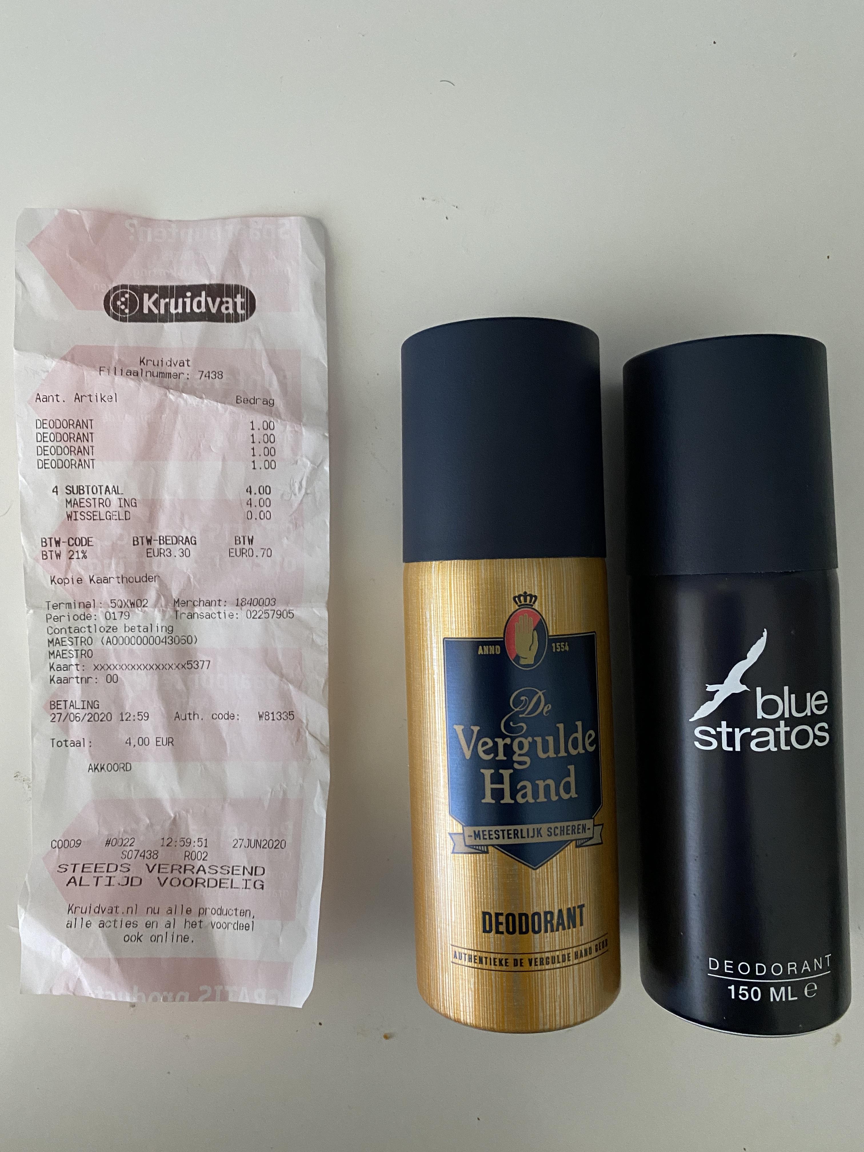 Vergulde Hand Deodorant voor €0,99 @Kruidvat