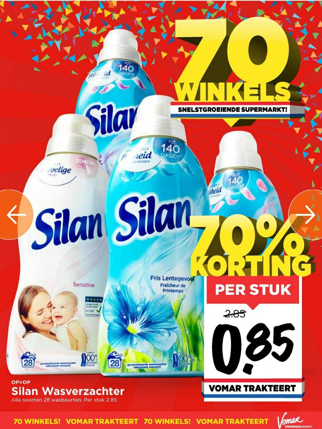 Silan wasverzachter 700 ml // 28 wasbeurten voor €0,85 per stuk @Vomar