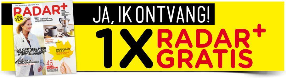 1x Gratis Radar+ of Halfjaar met HEMA-cadeaubon t.w.v. €10 voor 10 euro @ Radarplus