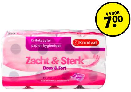 32 rollen (8x4) toiletpapier voor €7,- @Kruidvat