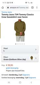 Tommy hilfiger trui @amazon.nl