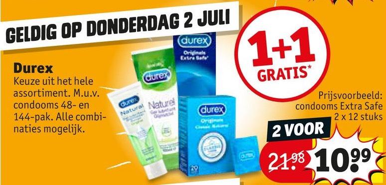 Durex 1 + 1 gratis @ Kruidvat
