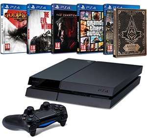 [Cyber Monday] Playstation 4 500 GB + God of War + Assassins Creed Syndicate + Meta Gear Solid V: The Phantom Pain + GTA V + The Evil Within voor €376