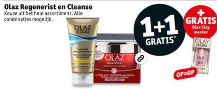 Olaz 1+1 + gratis Olay gezichtsmasker [t.w.v. €19,99 - va €6,99 totaal] @ Kruidvat
