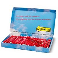 50 rode balpennen met drukknop. GRATIS bij je bestelling