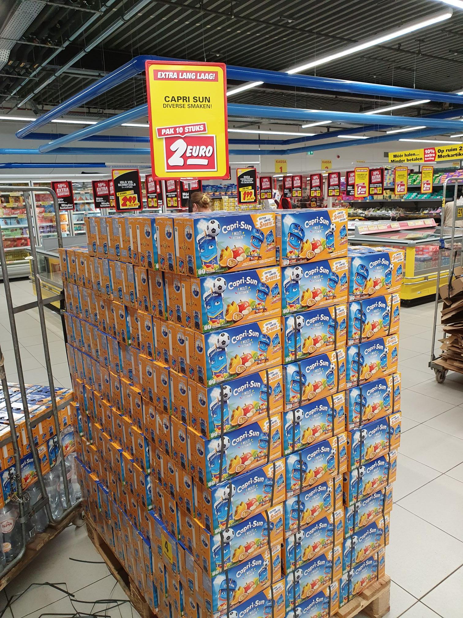 10 pakjes Capri-sun voor slechts 2 euro! @ Nettorama