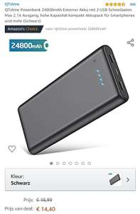 QTshine Powerbank 24800mAh @ Amazon.de