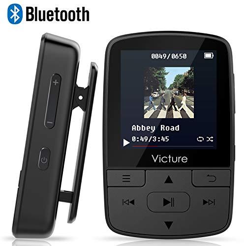 Victure Bluetooth MP3-speler, 16 GB, mini-sportmuziekspeler met clip, 30 uur afspelen met FM-radio, tot 128 GB SD-kaart @amazon.de