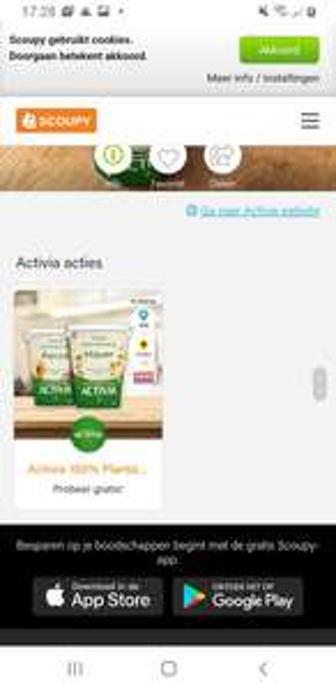 Activia plantaardig scoupy gratis na cashback €0