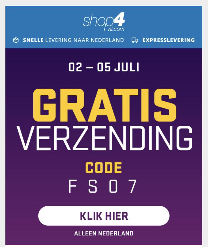 Shop4nl.com gratis verzending*