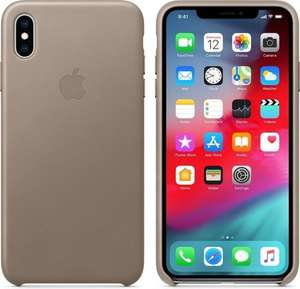 Apple leren case taupe voor iPhone XS MAX