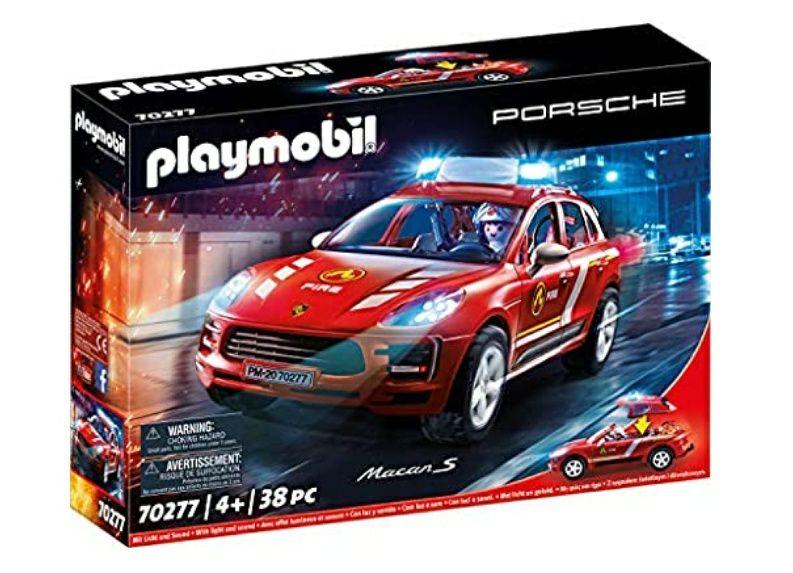 Playmobil Porsche 70277 Porsche Macan S brandweerauto met licht- en geluidseffecten