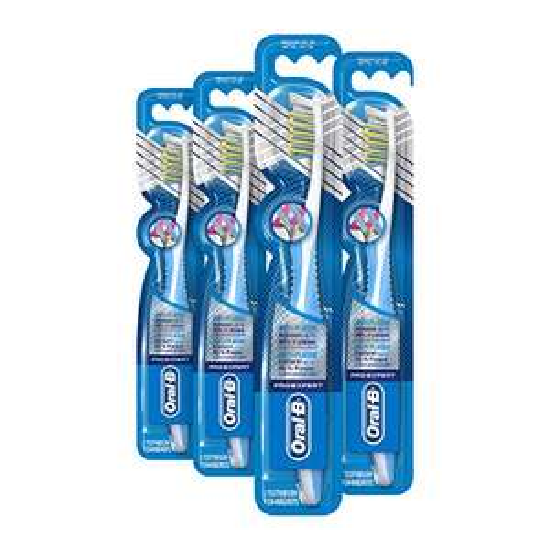 (Prime) Oral-B Pro-Expert CrossAction Anti-Plaque handtandenborstel medium, 4-pack (4 x 1 stuk)
