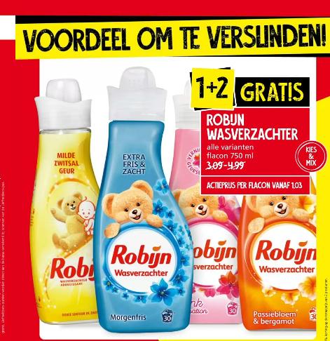 Robijn Wasverzachter 1+2 bij Jan Linders