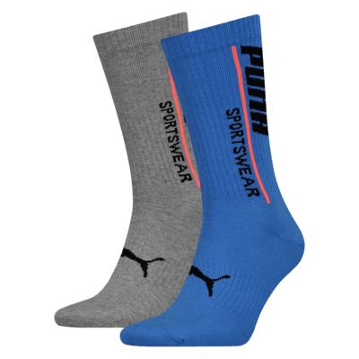 18 paar (9 blauwe en 9 grijze) lange Puma sokken voor €34,95 met verzenden @ geomix