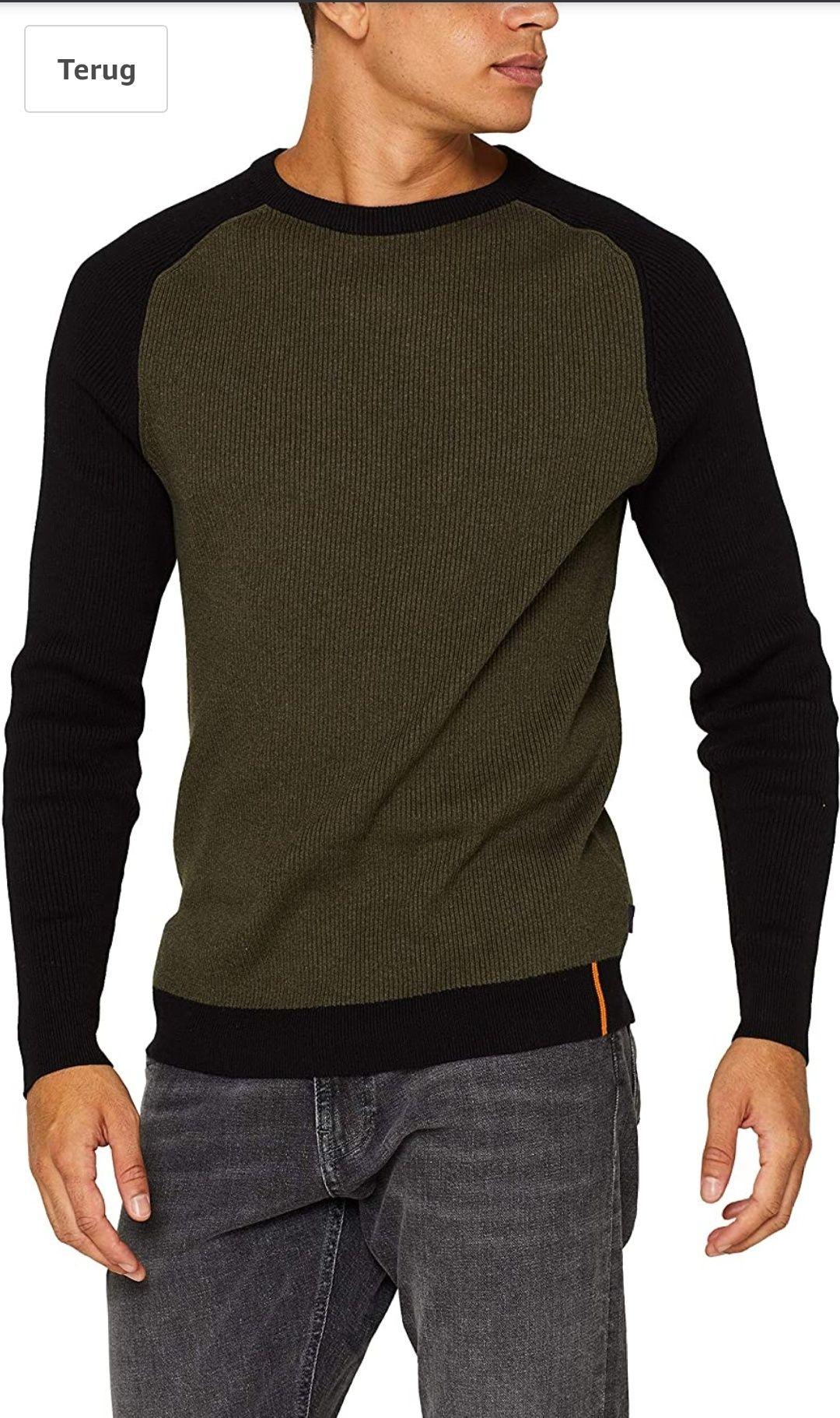 Esprit heren trui/pullover khaki green @ amazon.nl