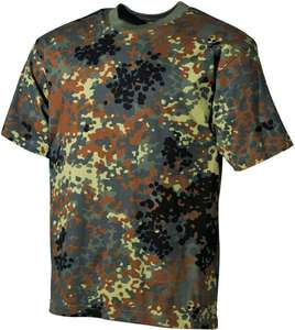 MFH US Army Heren Camoflage T-Shirt Maat L