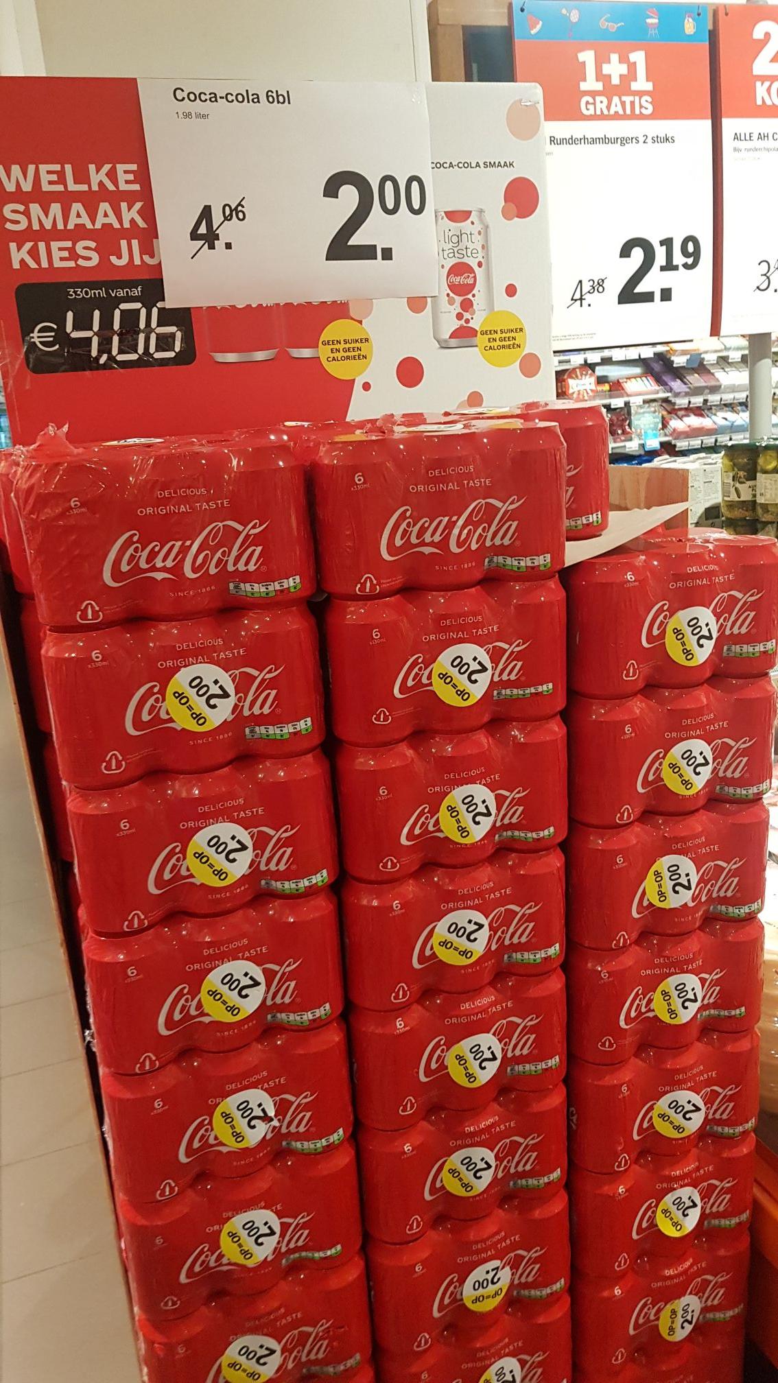 Lokaal A'dam - 6 x 33cl Coca Cola blikjes bij AH Weteringschans