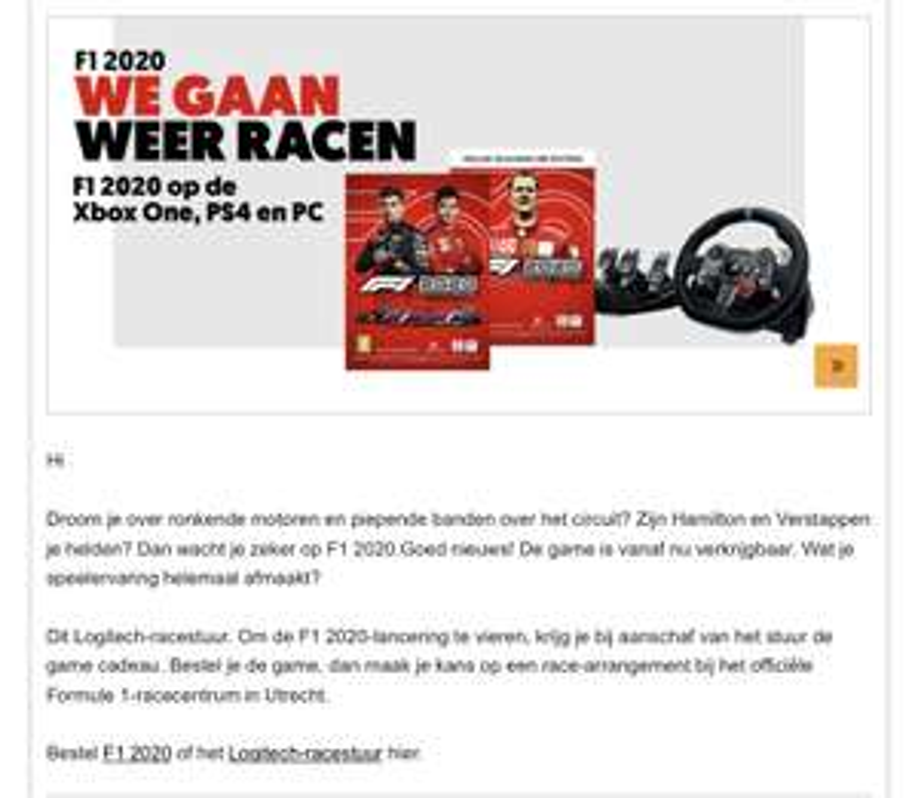 [MediaMarkt] Logitech G29 met gratis F1 2020