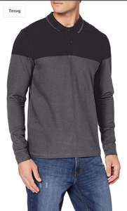 Esprit heren polo shirt met lange mouwen dark grey @ amazon.nl