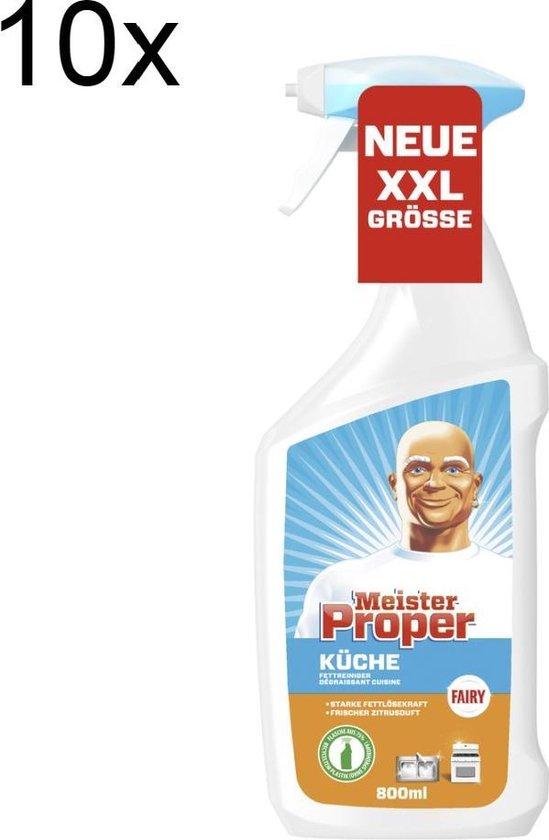 Mr Proper keukenspray - 10 flacons 800 ml