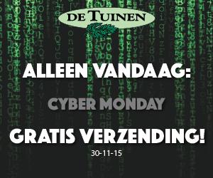 [Cyber Monday] Gratis verzending op alles (ook bovenop Black Friday deals) @ De Tuinen