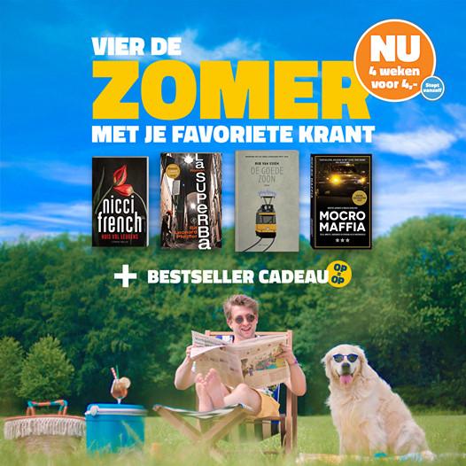 4 tot 8 weken DPG krant + gratis bestseller voor maar € 4,-