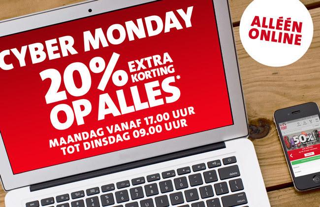 [Cyber Monday] 20% extra korting bovenop de sale en lopende acties @ Sport Perry