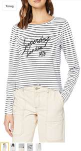 Superdry adelina graphic top white stripe