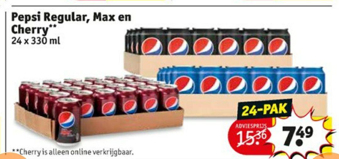 Pepsi Regular, Max en Cherry 24pack @Kruidvat