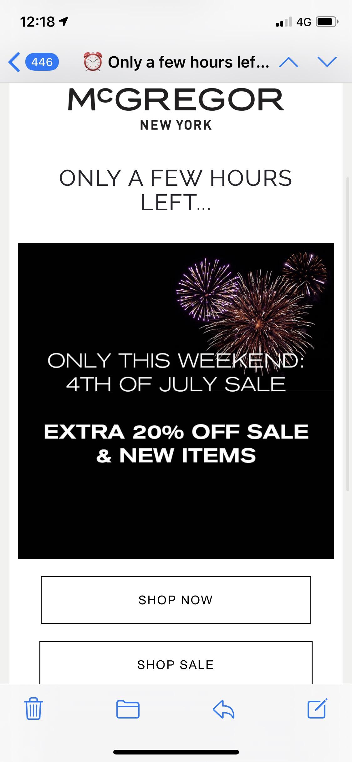 Extra 20% korting boven op de 50% Sale!! Bij @mcgregor