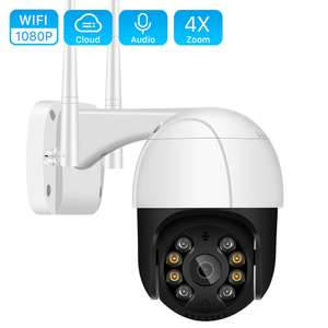Draadloze 1080P PTZ Wifi IP Camera Outdoor 4X Digitale Zoom