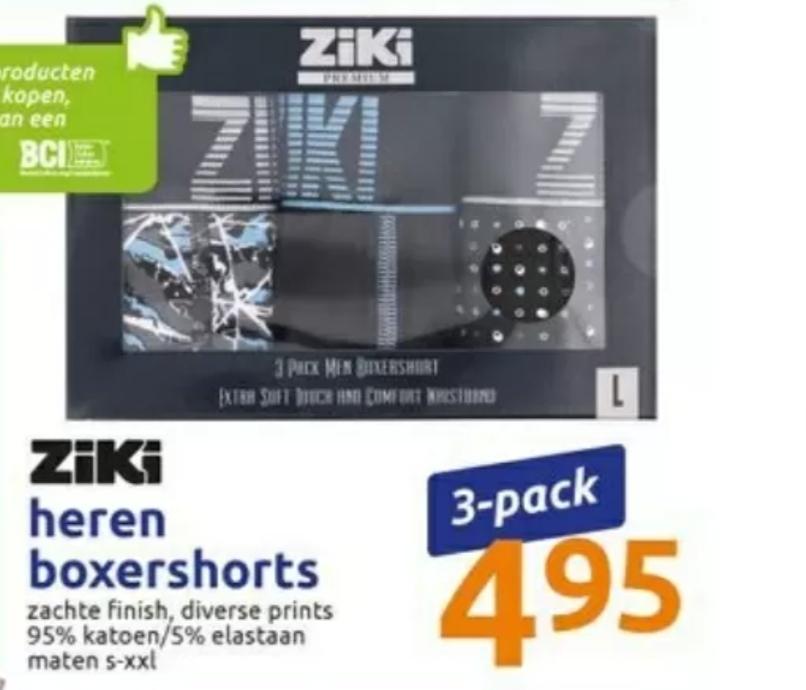 Ziki Premium boxershorts 3-pack in een mooi doosje @ Action
