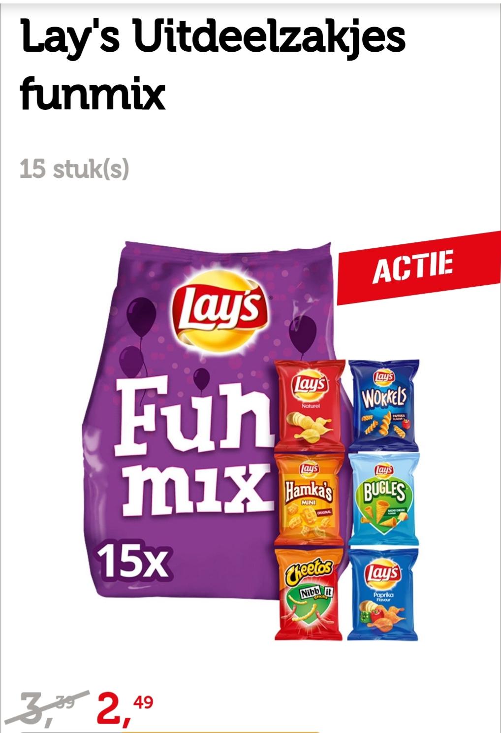 Lays fun mix €2.49 bij Coop