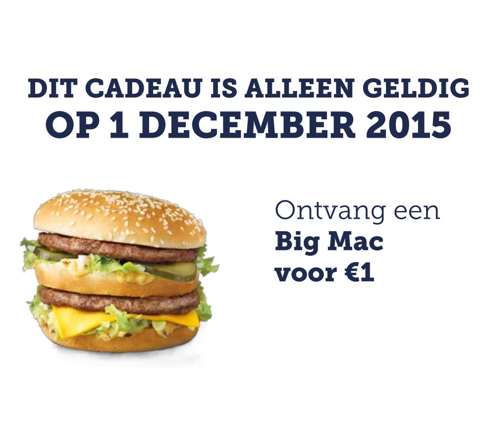 Big Mac voor €1,-