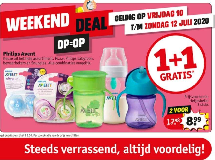 Philips Avent 1 + 1 gratis @ Kruidvat