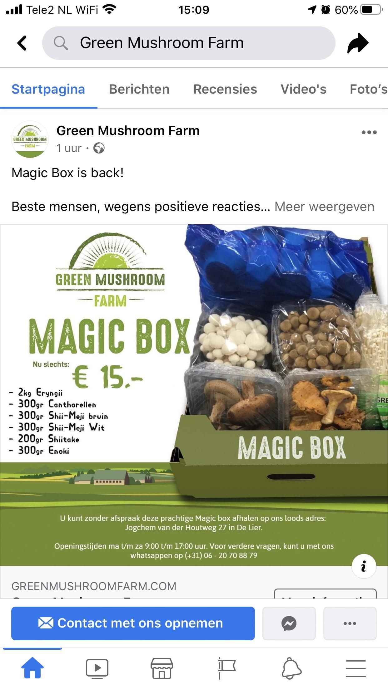[Lokaal - De Lier] 3,4kg paddenstoelen voor €15,- mix
