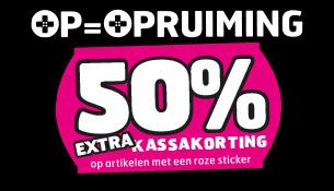 50% extra kassakorting op veel producten @ Trekpleister winkels
