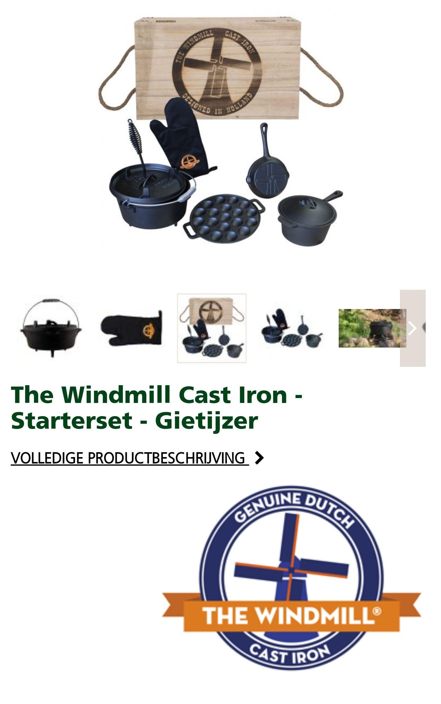 The Windmill Cast Iron Startersset