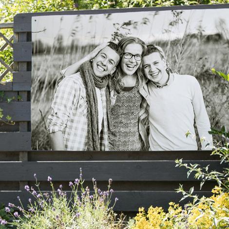 Tuinposter met eigen foto 100x70 cm voor €8,99 (-80% op reguliere prijs)