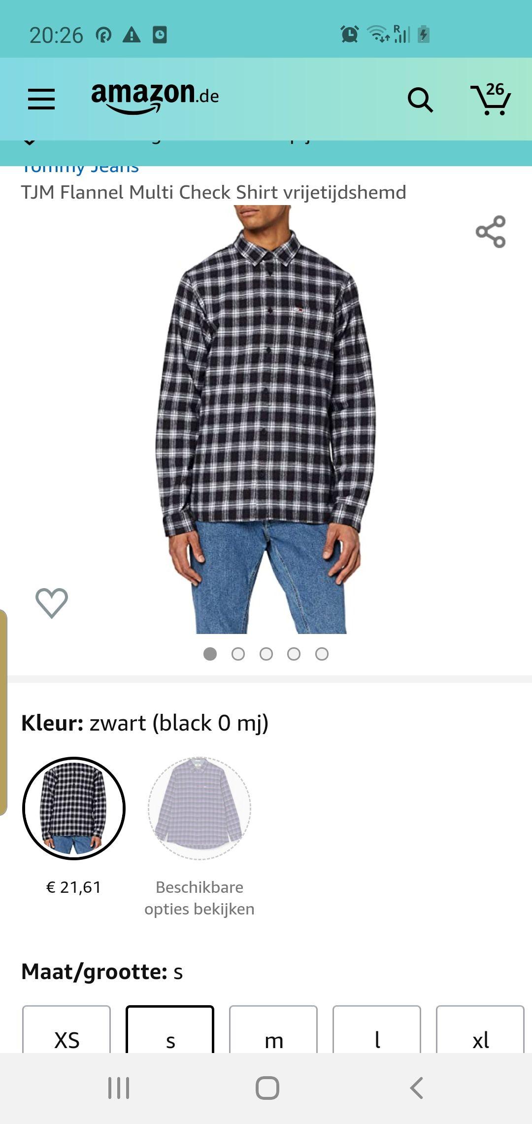 Tommy jeans overhemd maat s amazon.de