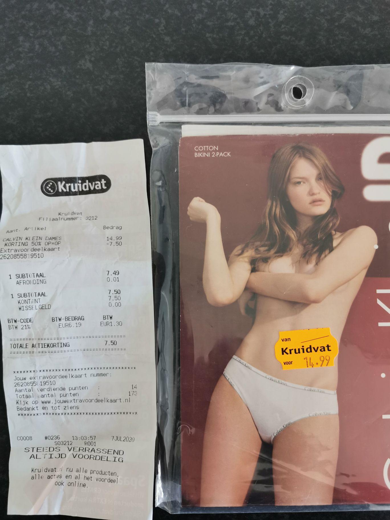 Calvin Klein slips 2-pack dames @ Kruidvat
