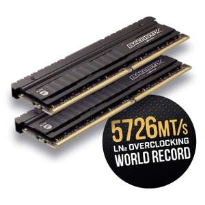 Crucial Ballistix Elite BLE2K8G4D36BEEAK Memory Gaming Kit, 3600 MHz, DDR4, DRAM, 16 GB (8 GB x 2), CL16