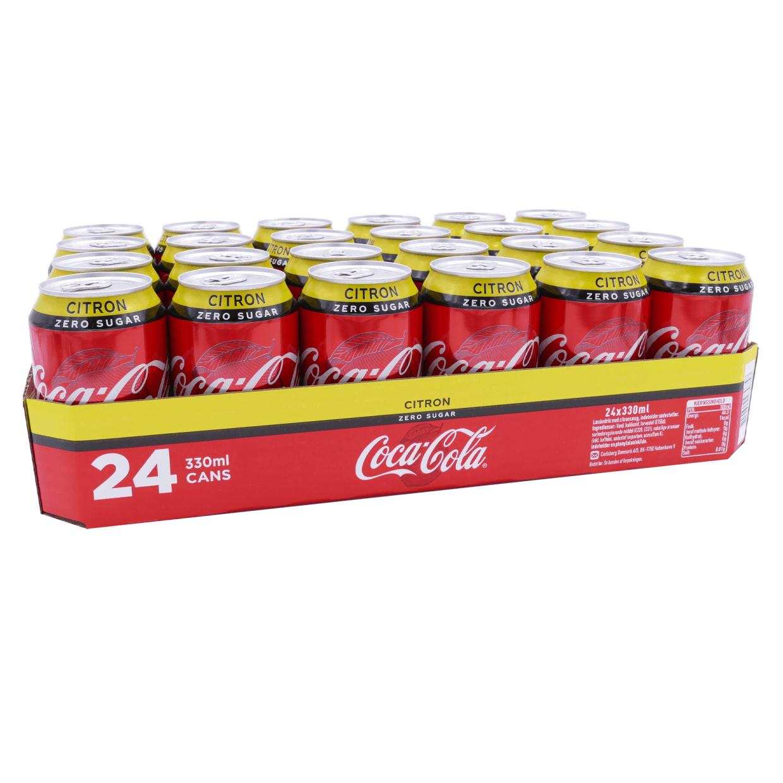 24 blikken Coca Cola zero Lemon voor €3,99 bij Medikamente die Grenze