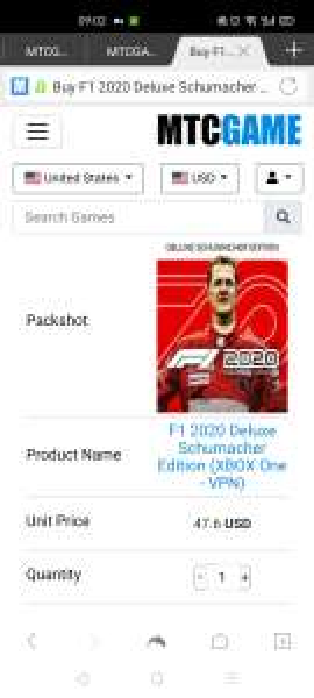 F1 2020 Schumacher editie Xbox One