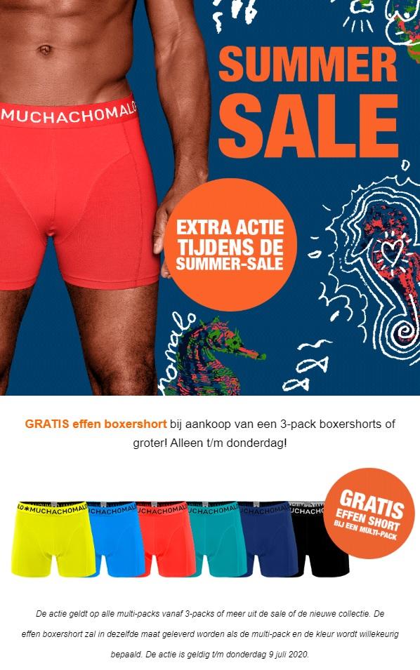 Muchachomalo - Gratis effen boxershort bij aankoop van 3-pack boxershorts (extra korting bij gebruik ING kortingscode)